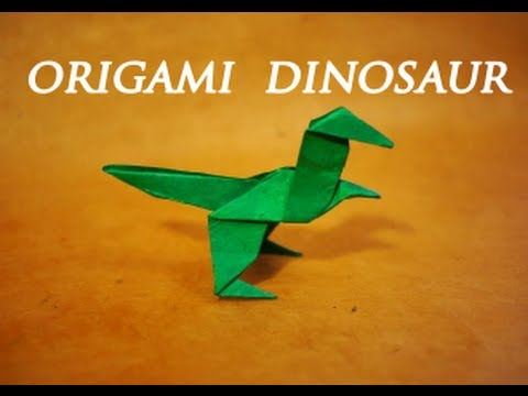 Youtube Easy Origami Dinosaur
