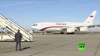 شاهد.. لحظة وصول الرئيس الروسي إلى صربيا.. و6 مقاتلات ميج 29 ترافق طائرته