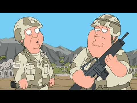 Family guy peter in army