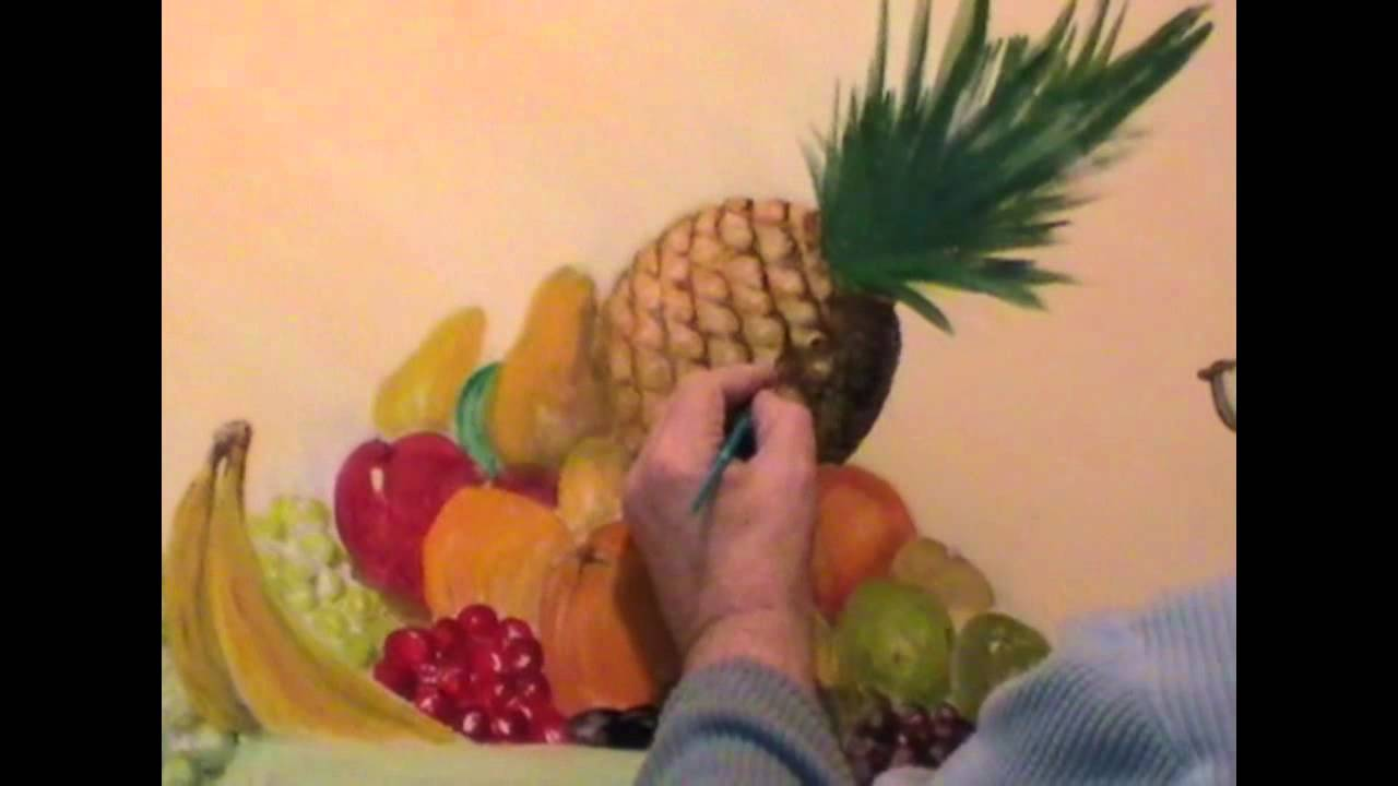 Gallery For gt Easy Fruit Bowl Painting