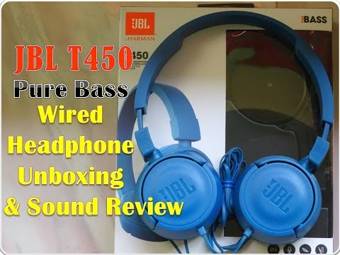 d21f0d2e4b7 JBL T450 Pure Bass Wired Headphone Unboxing & Sound Quality Review(HD)