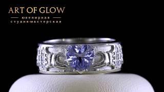 Кольца из белого золота с бриллиантами и топазом.(, 2014-07-24T17:54:31.000Z)
