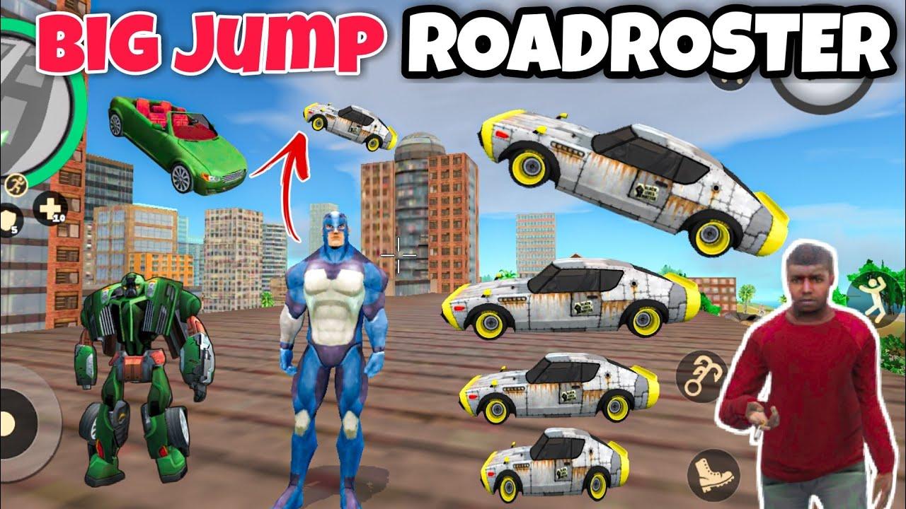 big jump roadroster racing car in rope hero vice town   dynamo spider