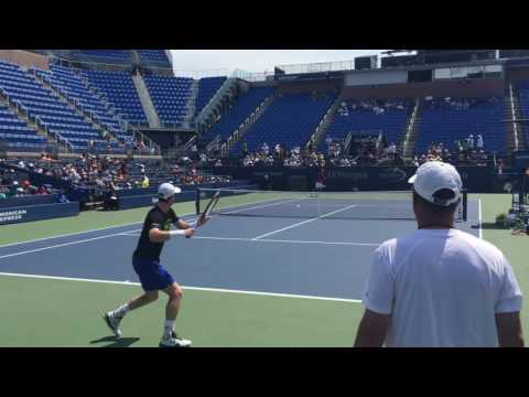 Murray & Evans Practice Session (US Open 08.25.16 - 1 of 2)