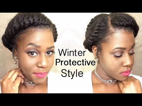 easy protective styles natural hair winter protective hairstyles easy 9535 | hqdefault