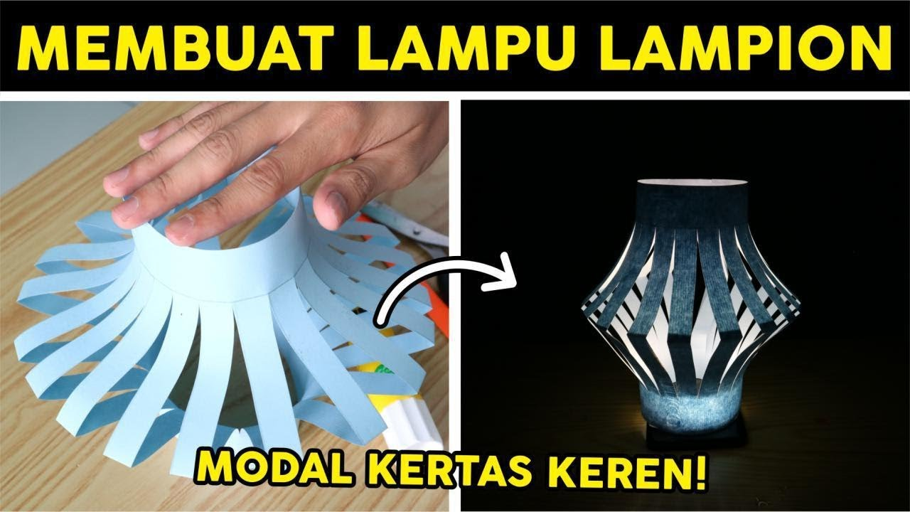 Papercraft: lampion pompom youtube.