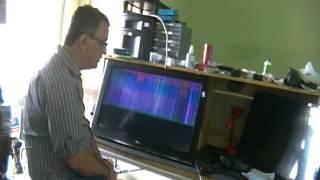TV LG 32CS460 LISTAS VERTICAIS NA TELA