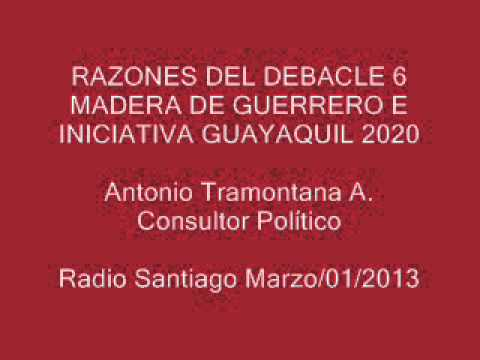 RAZONES DEL DEBACLE 6 MADERA DE GUERRERO E INICIATIVA GUAYAQUIL 2020