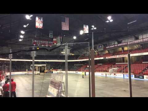 Time Lapse of Matthews Arena (Basketball Court to Hockey Rink) Northeastern University