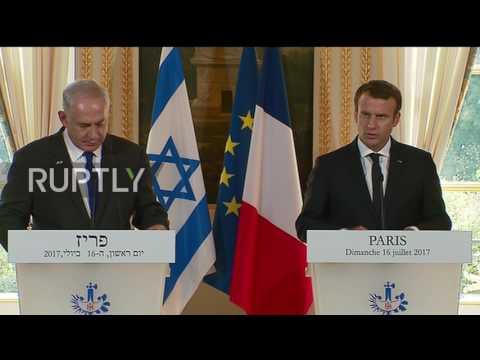 France: Macron calls for resumption of Israel-Palestine talks during Netanyahu visit