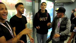 Full version! MiC LOWRY almost get kicked out of London Euston for singing for free!