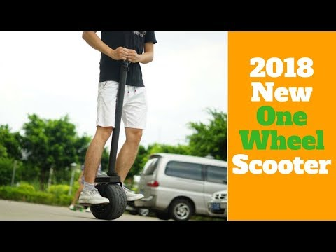 2018 Best Innovative One Wheel Scooter Driving Review