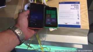 ГаджеТы:обзор ультрабюджетной Nokia Lumia 530 Dual SIM на стенде Nokia на выставке IFA 2014 Berlin