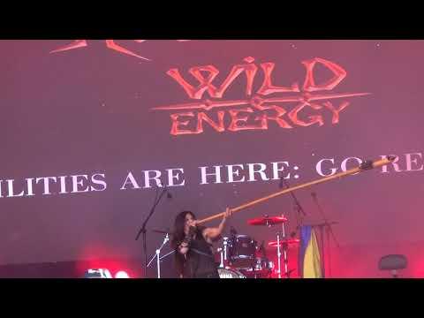 ESCKAZ in Lisbon: Ruslana (Ukraine) - Wild Energy intro (at Eurovillage)