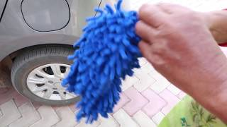 Best Microfiber car cleaning glove unboxing with Giveaway
