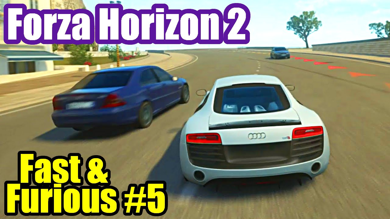 forza horizon 2 fast furious 5 audi r8 youtube. Black Bedroom Furniture Sets. Home Design Ideas