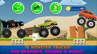 Monster Trucks Game for Kids 2 quot;Educational Action amp; Adventurequot; roid Games Videos For Kids
