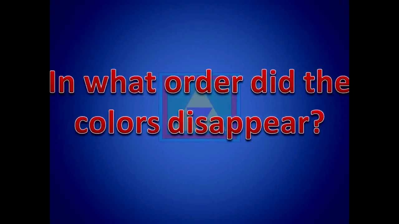 Game order colors - Remember The Order The Colors Disappear Memory Game