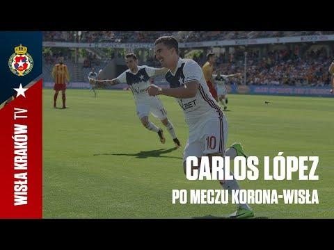 Carlos López po meczu z Koroną Kielce (06.05.2018)