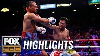 Pacquiao beats Thurman for WBA Super World Welterweight Championship belt | HIGHLIGHTS | PBC ON FOX
