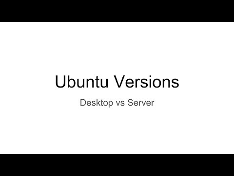 Ubuntu Versions: Desktop Vs Server