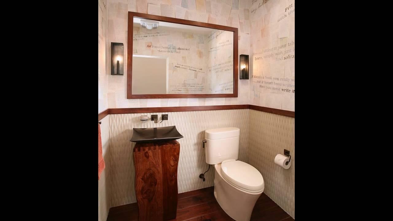 Handgemalte Wand Papier Von Lucy Jensen Stiehlt Zeigen In Diesem Badezimmer