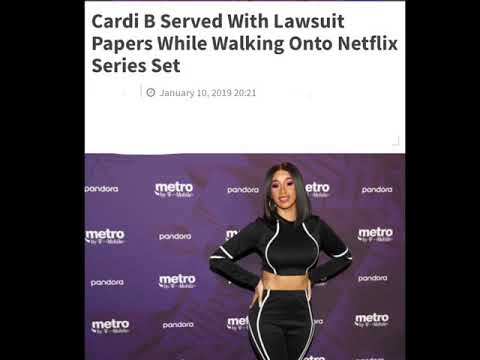 Cardi B gets served lawsuit papers! Mp3