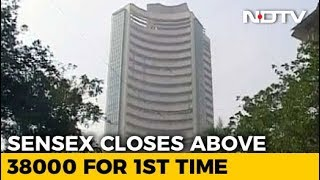 Sensex Closes Above 38,000 For First Time As Banking Stocks Extend Gains