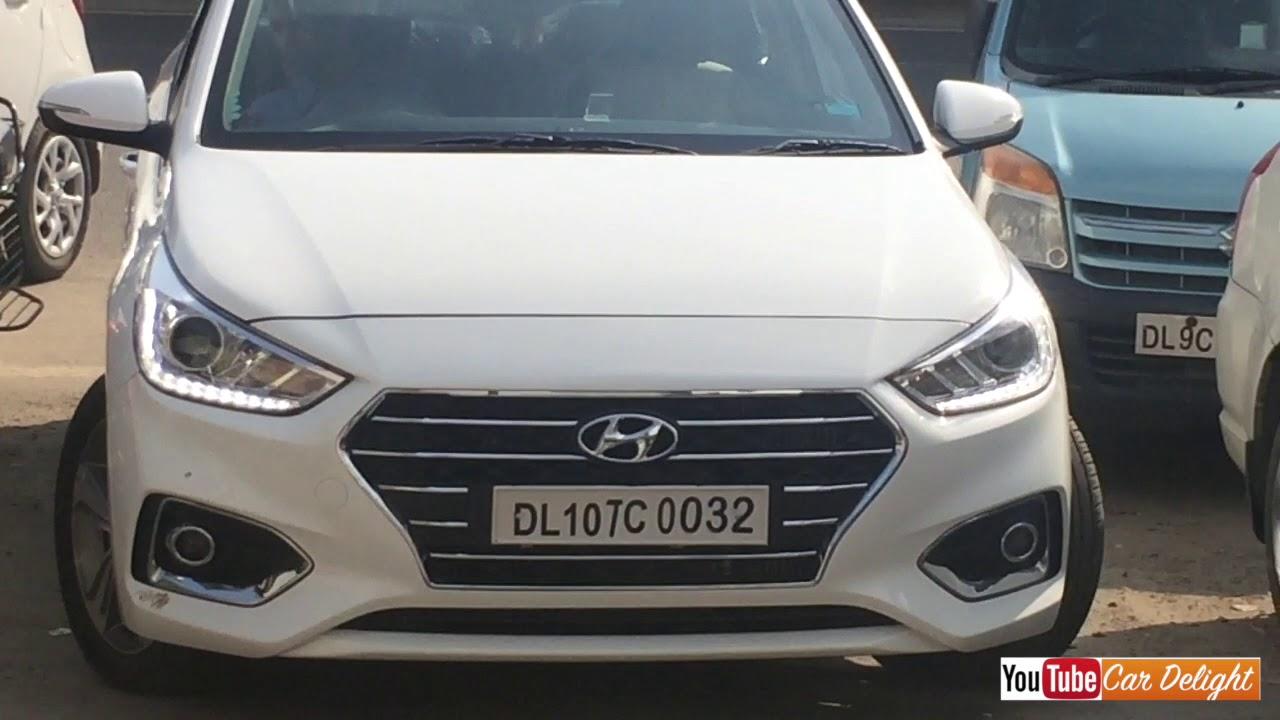 New Hyundai Verna 2017 Sx Model White Colour Walkaround