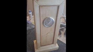 "Home made Mantel Clock, Wall Clock made from one 2""x3""x8"