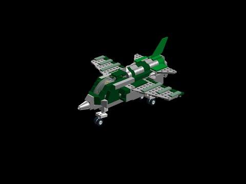 Avion de chasse sepecat jaguar a lego youtube - Avion de chasse en lego ...