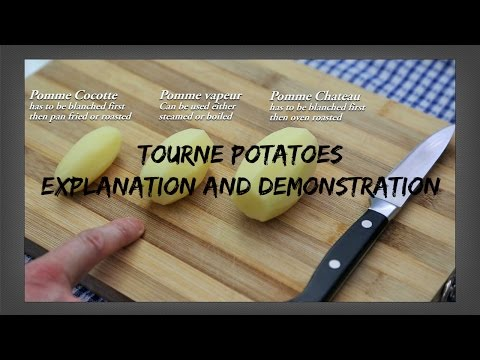 How To Make Tourne Potatoes - Explanation and Demonstration - French Culinary Techniques