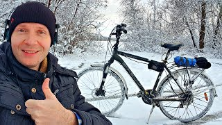 ✅На что способен Электро-Велосипед ЗИМОЙ