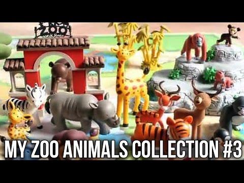 My Zoo Animals Collection RBA Pt 3: Dolphin Macaw Seal Hippo Tigress Brown Bear Meerkat Panda... - 동영상