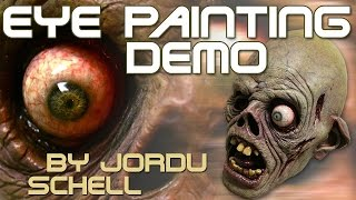 Eye painting demonstration by Jordu Schell