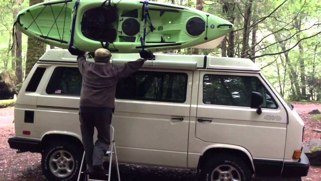 Vw Syncro Vanagon With Thule Hulivator Kayak Canoe Lift