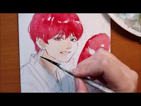 [BTS] V Day Watercolor Speedpaint