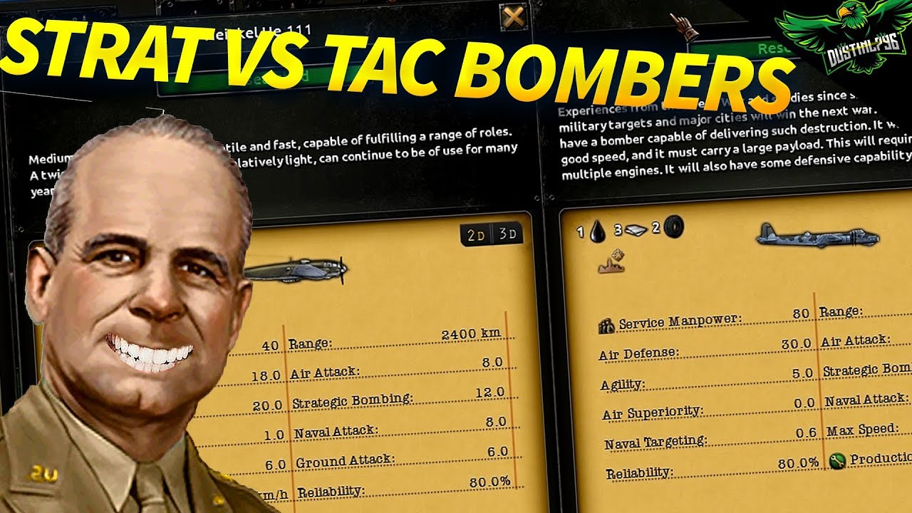 Strategic Bombers vs Tactical Bombers (Hearts of Iron 4 Tutorial Guide)