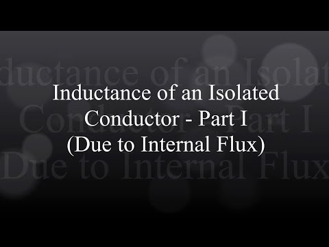 Inductance of an Isolated Conductor - Part I (Due to Internal Flux)