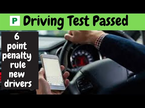 6 point penalty rule for new drivers.