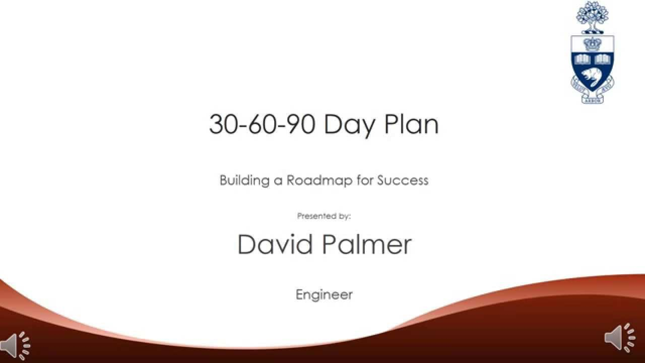30 60 90 day plan david palmer youtube