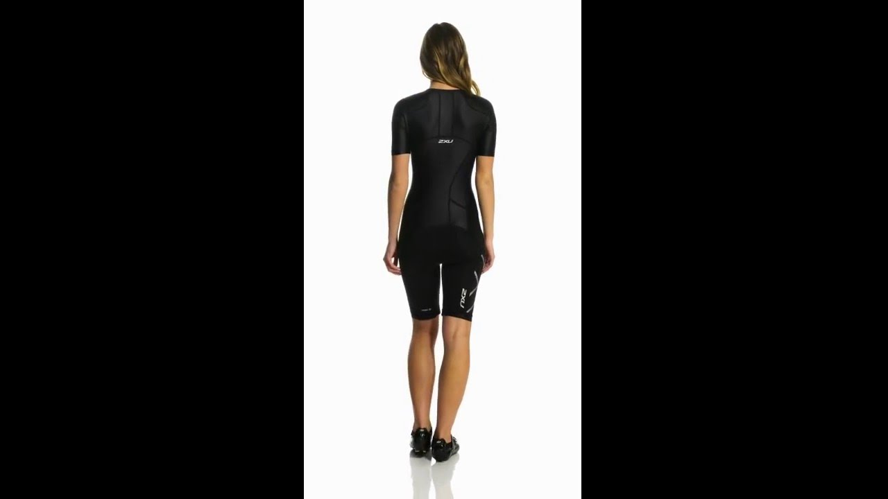 e45524a6526 2XU Women's Compression Sleeved Tri Suit | SwimOutlet.com - YouTube