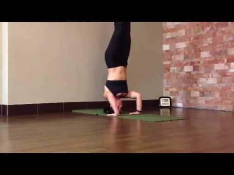 YOGA - Tripod Headstand Pose with leg variation- Sirsanana ...