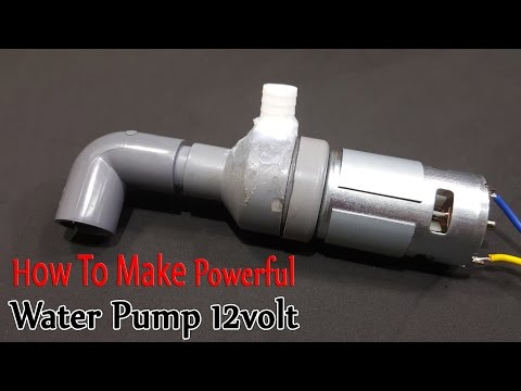 How to make Powerful Water Pump 12volt...