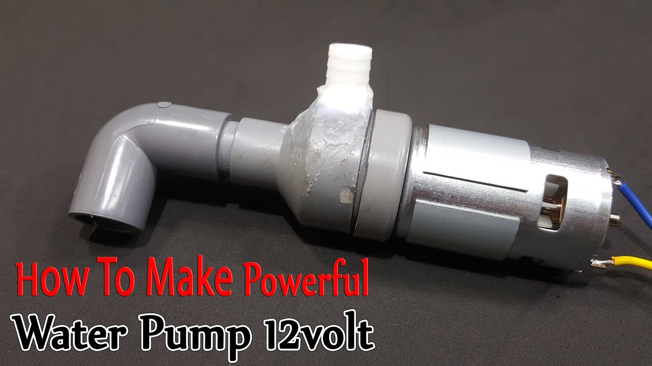 how to make powerful water pump 12volt with 775 motor [ 1280 x 720 Pixel ]