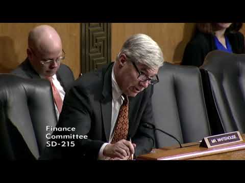 Whitehouse Remarks in Finance Committee on The 2018 Tax Filing Season and Future IRS Challenges