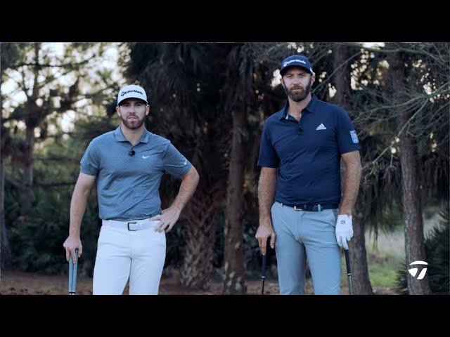 Dustin Johnson VS. Matthew Wolff Recovery Shot CHALLENGE | TaylorMade Golf