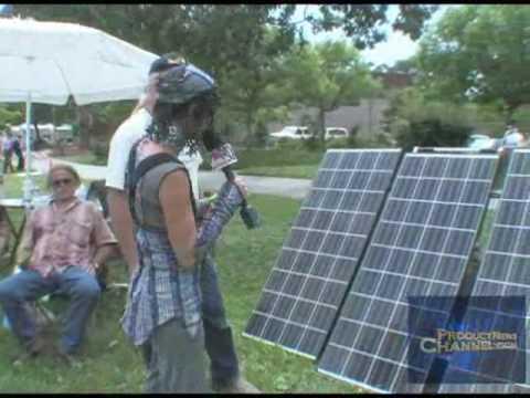 trade show video SolMan Portable Solar Generator At Solar Sonoma Fair ...