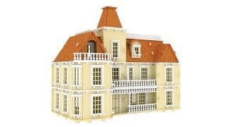 The Bostonian Mansion 3d Puzzle Dollhouse Pattern Laser Cut Cnc Router Plans