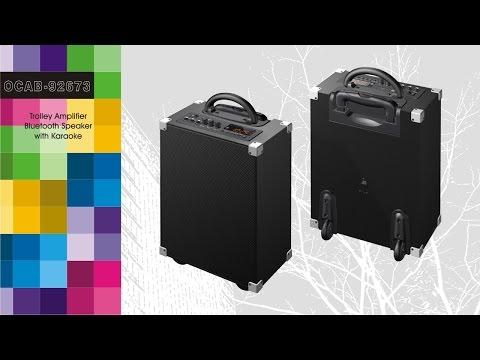 OCAB-92673 (Trolley Amplifier Bluetooth Speaker with Karaoke)